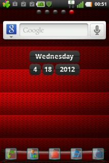Red Abstract Experia Android Theme Mobile Theme