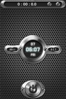 Dots Metal Clock LS IPhone Theme Mobile Theme