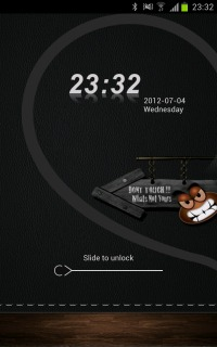 Dont Touch My Phone Clock Android Theme Mobile Theme
