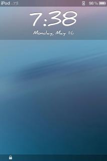 Lockscreen Blue Supine Clock IPhone Theme Mobile Theme