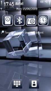 Cubes 3D Digital S60v5 Theme Mobile Theme