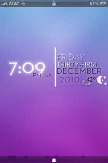 Lockscreen Purple Time IPhone Theme Mobile Theme