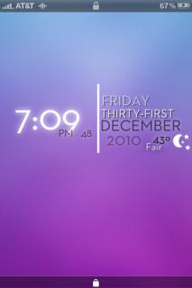 Lockscreen Purple Time IPhone Theme Mobile Theme