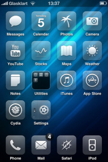 Abstract Blue Glass IPhone Theme Mobile Theme