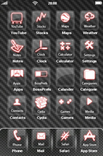 Pink 3D Black Liner IPhone Theme Mobile Theme