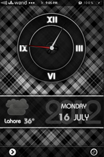 LS Design Dark Analog IPhone Theme Mobile Theme