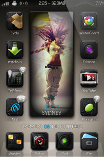 Dancing Jumping Girl IPhone Theme Mobile Theme