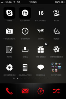 Blacky Simple Sunnyside IPhone Theme Mobile Theme