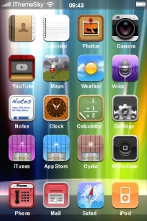 Aurora Colors Design IPhone Theme Mobile Theme
