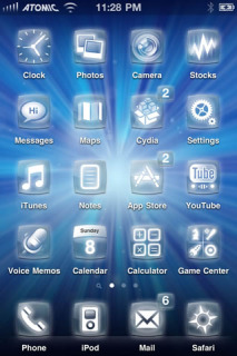 Light Effect Blue IPhone Theme Mobile Theme