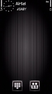 Black 3D Brushed Nokia S60v5 Theme Mobile Theme