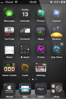 Black Texture HD IPhone Theme Mobile Theme