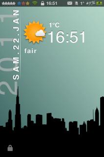 Dark City Weather IPhone Theme Mobile Theme
