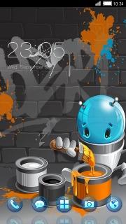 Graffiti Colors Design Art Android Theme Mobile Theme