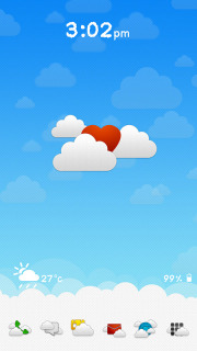 Cloud Love For Android Theme Mobile Theme