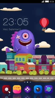 City Little Monster For Android Theme Mobile Theme