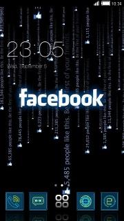 Matrix Facebook Android Theme Mobile Theme