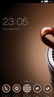 Coffee Cup Clock Android Theme Mobile Theme