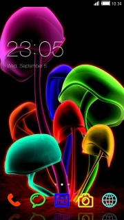 Abstract Neon Mushroom Android Theme Mobile Theme