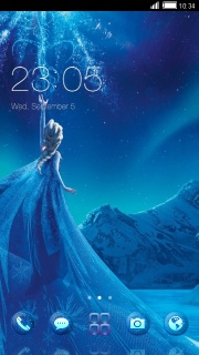 Blue Winter Princess Android Theme Mobile Theme