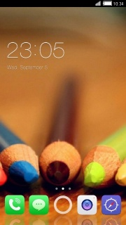 Front Pencils Colors Android Theme Mobile Theme