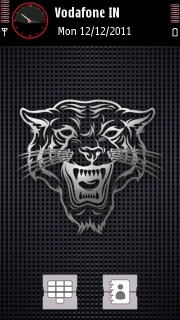 Sketch Tiger Black Nokia Theme Mobile Theme