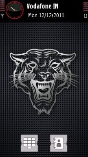 Sketch Tiger Black Nokia Theme Mobile Theme