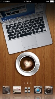 Love Coffee & Laptop Android Theme Mobile Theme