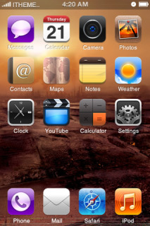 Red CityTetra IPhone Theme Mobile Theme