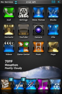 HD Cloudy View IPhone Theme Mobile Theme