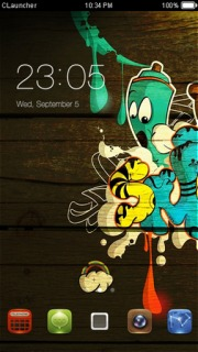 Wooden Faces Free Android Theme Mobile Theme