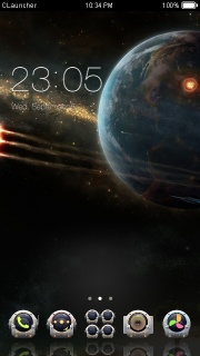 Space & Time Shine Android Theme Mobile Theme
