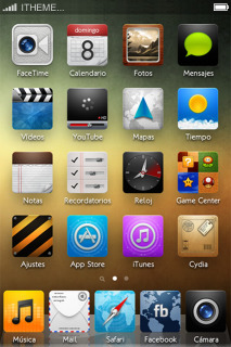 Tendance HD Colors IPhone Theme Mobile Theme