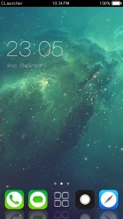 Abstract Shine Time Android Theme Mobile Theme
