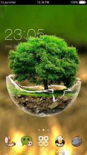 Nice World Mountain Android Theme Mobile Theme