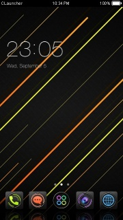 Dark Glow Lines Android Theme Mobile Theme