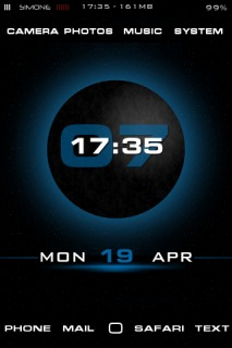Blue 3D Clock IPhone Theme Mobile Theme