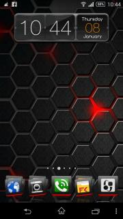 Dark & Red Block Android Theme Mobile Theme