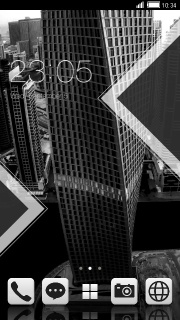 Black Building Time Android Theme Mobile Theme