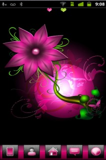Pink Flower 3D Android Theme Mobile Theme