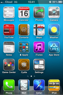 Blue Background IPhone Theme Mobile Theme
