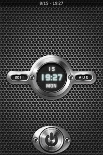 3D LS Clock & Metal IPhone Theme Mobile Theme