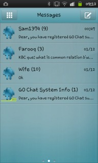 Sms Inbox Blue Android Theme Mobile Theme