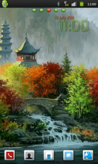 3D Autumn Painting Android Theme Mobile Theme
