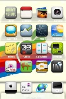 Apple Rainbow Abstract IPhone Theme Mobile Theme