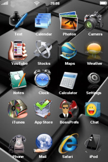 Cubes Gray 3D IPhone Theme Mobile Theme