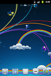Rainbows Sky Clouds Android Phone Mobile Theme