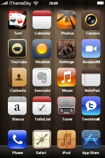 Brown Lights ICons 3D IPhone Theme Mobile Theme