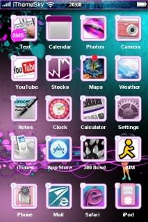 Purple Girl & Bokeh Flowers IPhone Theme Mobile Theme