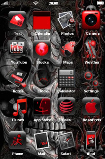 Skull & Red Face IPhone Theme Mobile Theme